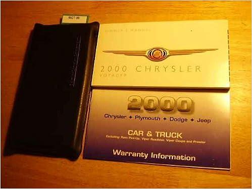Mnl-4671] 2000 chrysler grand voyager owner manual   2019 ebook.