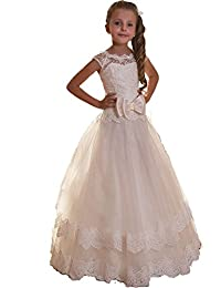 Nina Flower Girl First Communion Pageant Chiffon Wedding Birthday Dress NND058