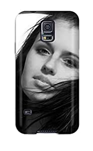 aqiloe diy For Galaxy S5 Premium Tpu Case Cover Black And White Beautiful Girl Protective Case 6309285K11625385
