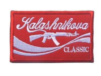 Kalashnikova Classic, Red AK47 Kalashnikova Russian Tactical Morale Velcro Patch (Kalashnikova Patch)