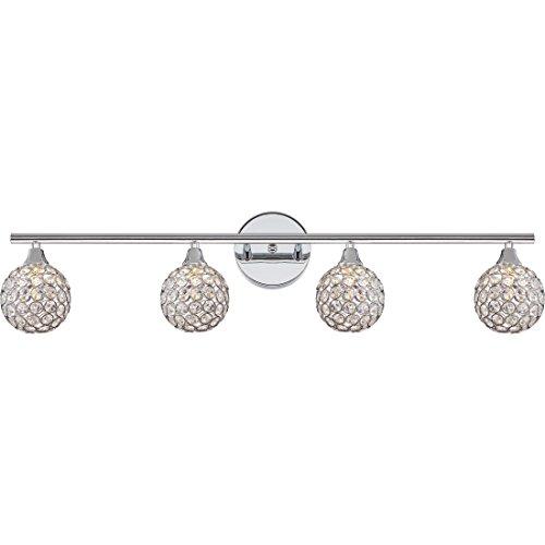 [Quoizel PCSR8604CLED Four Light Bath Fixture] (Platinum 4 Light Vanity Lamp)