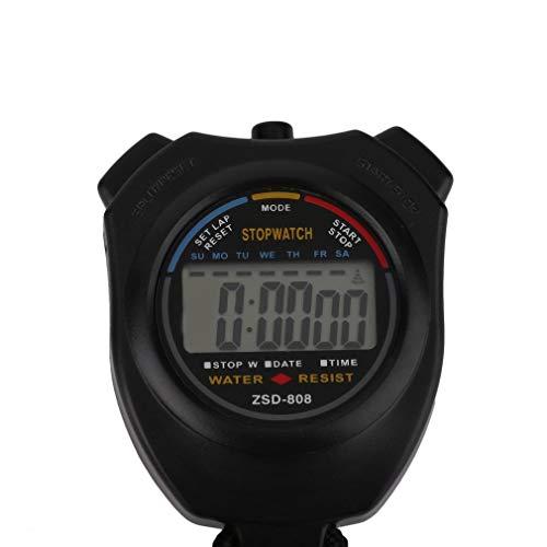 73JohnPol Cronómetro Profesional portátil Digital LCD Cronómetro ...