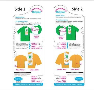 graphic about Printable Embroidery Placement Ruler named Embroiderers Helper - Template Help - Posture Instrument: Amazon
