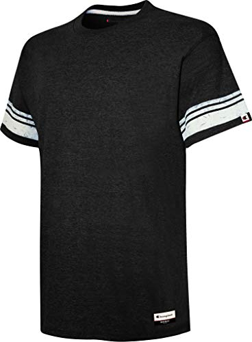 Champion AO300 Authentic Originals Triblend Varsity Tee Black 2XL]()