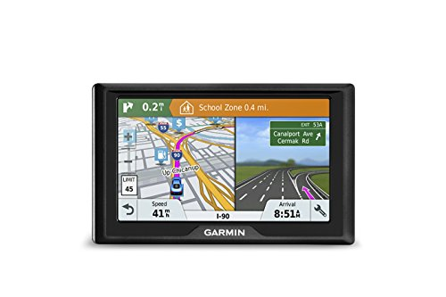 Garmin Drive 51 USA LMT-S GPS Navigator System with Lifetime Maps, Live Traffic and Live Parking, Driver Alerts, Direct Access, TripAdvisor and Foursquare data (Live Car)