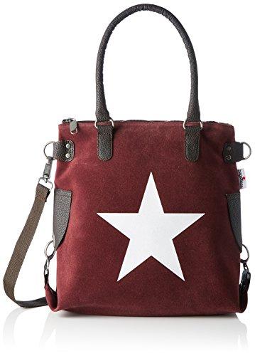 Bags4Less Damen Stern-Mini Umhängetasche, 32x34x44 cm Violett (Aubergine)