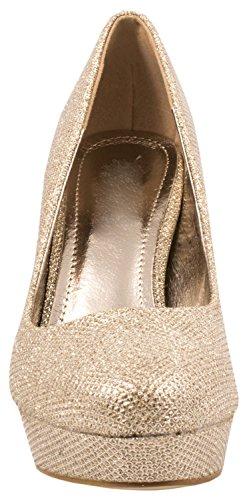 Wp70bwq Or Compensées Chaussures Femme Elara OIBwc