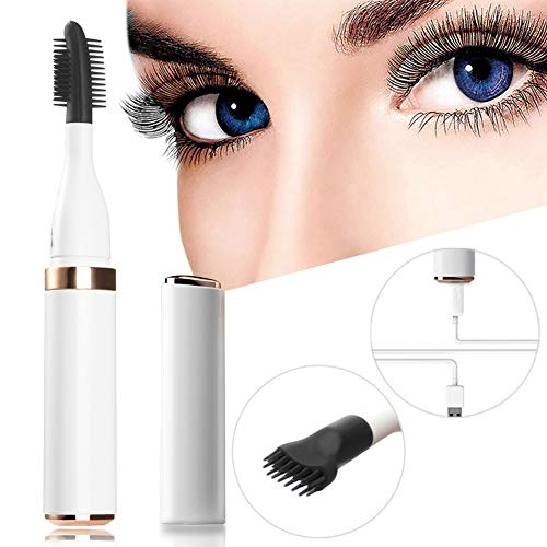 Heated Eyelash Curler, Electric Eyelash Curler, Double Effect Eyelash Styler, Quick Heating&Long Lasting, USB Rechargeable, Portable Electric Makeup Eye Lashes Brush