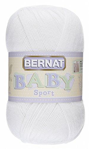 Bernat Baby Big Ball Sport Yarn, Solid, 12.3 Ounce, Baby White, Single Ball