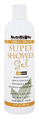Nutribiotic Super Shower Gel - Fresh Fruit 12 Oz