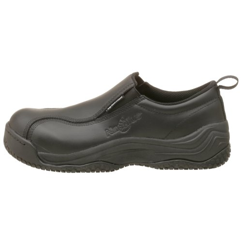 Nautilus 110 Slip Resistant Comp Safety Toe No Exposed Metal Slip-On,Black,11 M/W