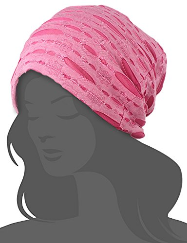 Women's Chemo Hat Beanie Scarf Liner for Turban Hat Headwear for Cancer Pink