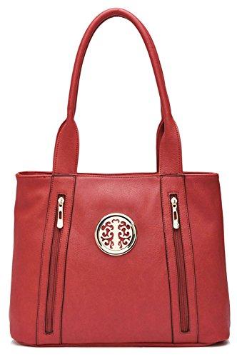 ll963 Delle Handbag Negozio Faux Donne Di Bag Cuoio Tote Grande Rete xqv1n4Y4
