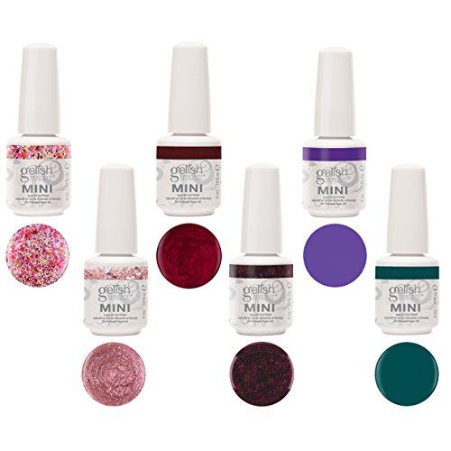 Gelish Gel Nail Polish 9 ml Mini Bottles Party in the Rose Garden Kit (6 Pack)