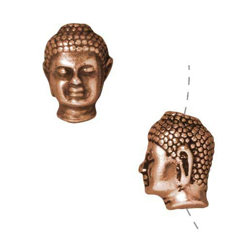 Copper Plated Pewter Buddha 13 5mm product image