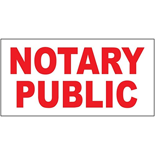 Novelty Funny Sign Notary Public Vintage Retro Metal Tin Sign Wall Sign Plaque Poster for Home Bathroom Road Cafe Bar Pub,Wall Decor Car License Plate Souvenir 6-46 ()