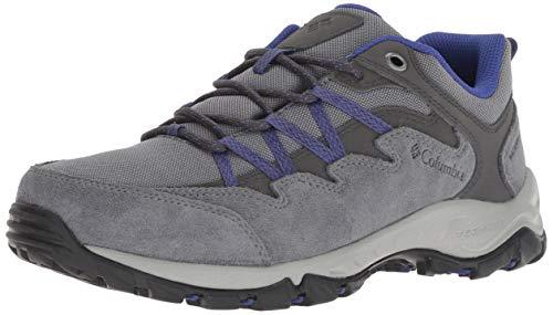 Columbia Women's WAHKEENA Waterproof Hiking Shoe, ti Grey Steel, Clematis Blue, 7.5 Regular US