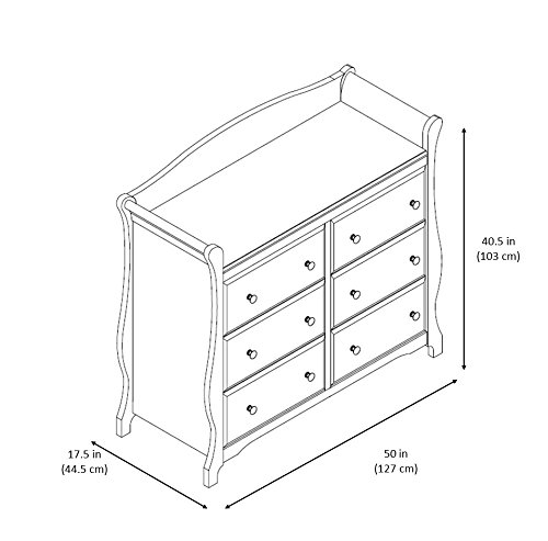 Stork Craft Avalon 6 Drawer Universal Dresser, Cherry by Stork Craft (Image #4)