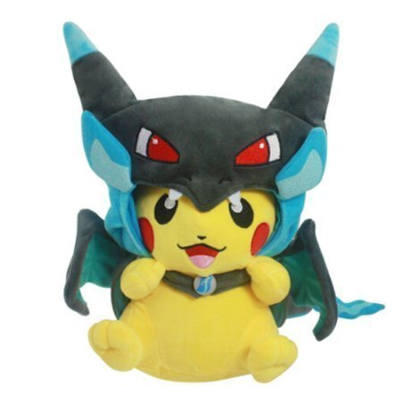 Mega-Charizard-X-Plush-Toy-Pokemon-Pikazard-Pikachu-Open-Mouth-Cloak-Blue-Stuffed-Animal-Soft-Figure-Doll-8