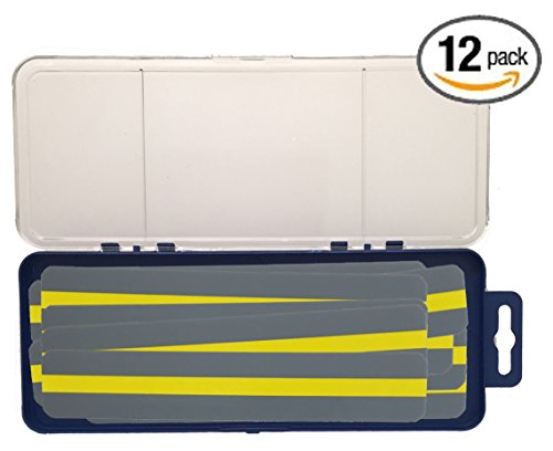 Reading Guide Highlighter Strips (Colored Overlays/Tinted Overlays) Classroom Pack of 12 Strips, Yellow with Storage Case (InPrimeTime Exclusive)