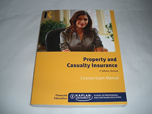 Property And Casualty Insurance License Exam Manual Isbn 10  1427725063 Isbn 13  9781427725066