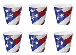 Revol France vaso arrugado de Espresso, de porcelana, 80 ml, taza de Espresso, bandera de EE.UU.