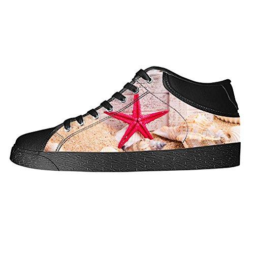I Delle Marine Shoes Spiaggia Alto Stelle Canvas Ginnastica Men's Tela Sopra Custom In Di Lacci Da Scarpe Le Fq50x4Sx