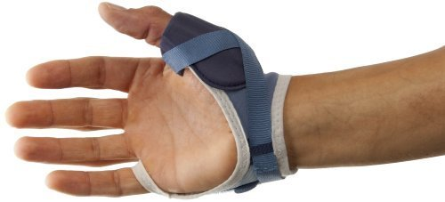 PSB Sports Thumb Brace - Blue/White, Large (Left Hand) by