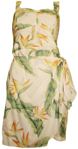 Paradise Found Womens Bird of Paradise #5 (2011) Side Tie Sarong Dress in White - L by Paradise Found