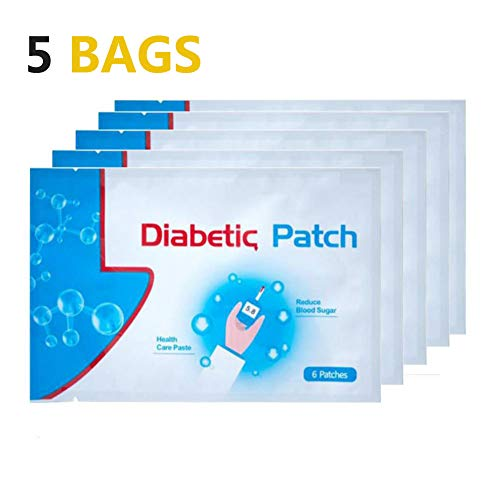 - Natural Herbal Diabetes Plasters, Keep Blood Sugar Balance, High Blood Sugar Diabetes Pads Health Care Product, 30 Pcs/ 5Bags