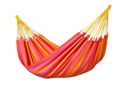LA SIESTA - Sonrisa Mandarine - Hamaca clásica Individual outdoor - Single cloth hammock for one person - 265 lb weight capacity - most comfortable when lying diagonally Weatherproof polypropylene fabric () is specially designed for hammocks to look and feel like cotton, but is weather resistant and fast-drying Traditionally handmade in Columbia with tear proof selvage and many suspension cords - patio-furniture, patio, hammocks - 41EFZRqc5uL -