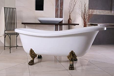 Casa Padrino Freistehende Badewanne Jugendstil Roma Weiß ...
