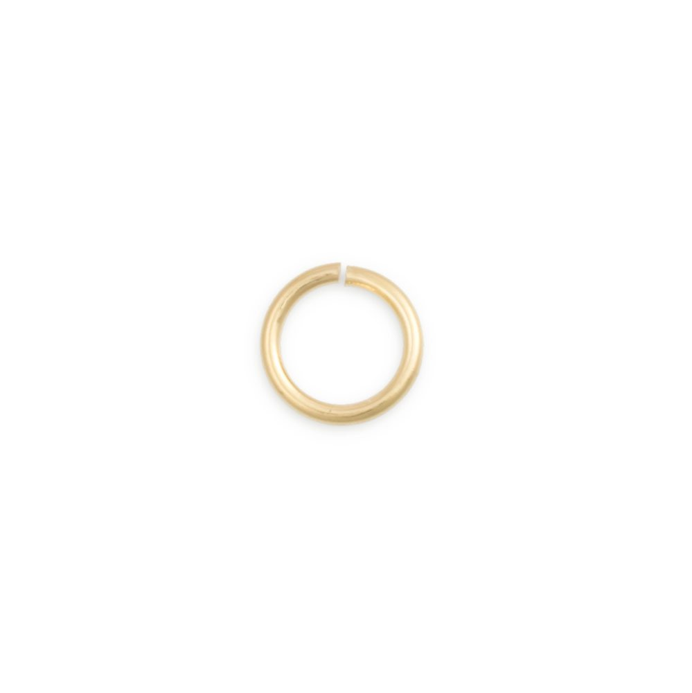 5.8mm 14 Karat Solid Yellow Gold Open Jump Ring JewelrySupply