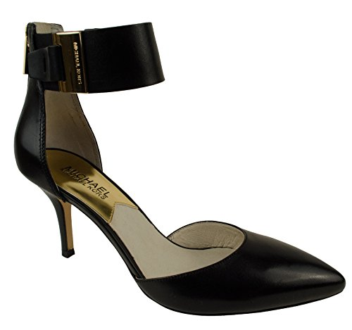 Michael Michael Kors Guiliana Mid Ankle Strap Women US 6.5 Black Heels - Ankle Strap Clog