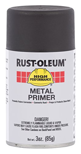 System V2100 High Performance (Rust-Oleum 276018 High Performance V2100 System Primer Enamel Spray Paint, 20-Ounce, Flat Black, 6-Pack)