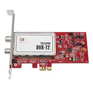 TBS6280 PCI-E DVB-T2/T Tarjeta con doble sintonizador Digital TV para Linux Windows