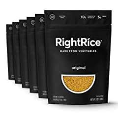 Original RightRice is a new vegetable rice grain made from lentils, chickpeas, peas + rice that's delicious, nutritious and easy to cook. RightRice has 10g of complete protein and 5g of fiber per serving. RightRice looks and tastes like rice ...