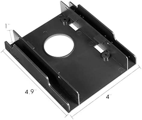 SODIAL 3.5 Inch to 2.5 Inch SSD//HDD Hard Drive Drive Bay Mounting Bracket Converter,Double Bay