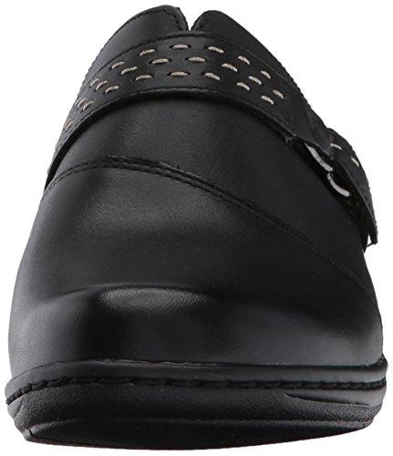 Black Zoccoli Black donna Zoccoli donna Clarks Leather Clarks Tw5zHP