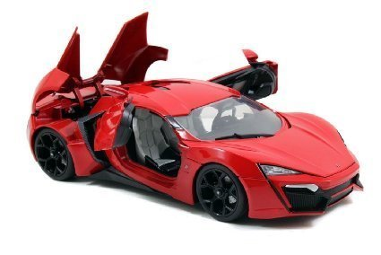 Jada 1/18 Scale Fast & Furious 7 Lykan Hypersport Red Diecast Car Model 97388 (Cars Used In Fast And Furious 7)