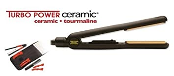 Turbo Power 343 Tourmaline Ceramic 1 450 Degree Salon Hair Straightening Iron by Turbo Power