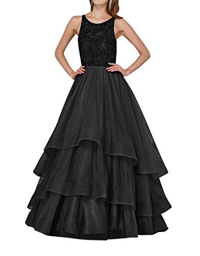 Tanzenkleider mit Linie Prinzess La Langes Brau Jugendweihe mia Schwarz Partykleider Pailletten Kleider Abendkleider Ballkleider A YY7P8H