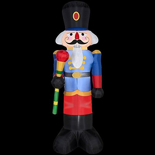 - CHRISTMAS INFLATABLE 6 1/2' NUTCRACKER YARD PROP DECORATION BY GEMMY