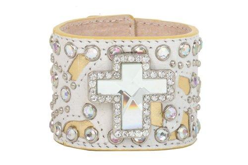 Rhinestone Studs Cross Bracelet Color: (Cross Stud Bracelets)