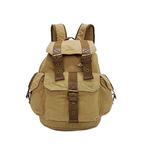 Borsa in tela casual borsa da viaggio borsa in stoffa nuova borsa a tracolla moda uomo borsa multi-funzione, kaki