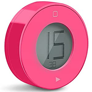 Tribesigns Digital Kitchen Timer with Large LCD Display & Alarm Magnetic Back, the Simplest and Easy-to-use Timer (Deep Pink)