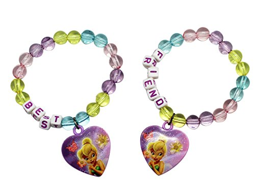 Tinker Bell Disney Fairies and Friends Kids Heart Charm Bracelets (2pc)