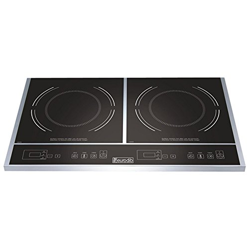 Eurodib Double Induction Cooker, 23 1/2 x 14 1/8 x 2 1/2 inch -- 1 each.
