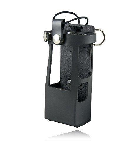 Radio Holder for a Motorola - Black (Leather Radio Holder For Motorola Apx 6000)