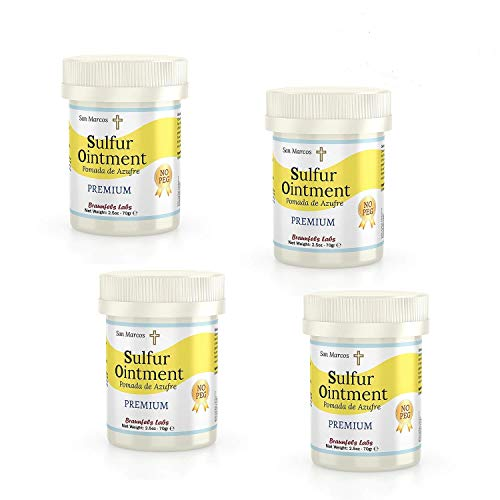 - 4 PACK - premium Sulfur Ointment - . Go All Natural ! No PEG (Zero Polyethylene Glycol)
